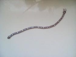 Antik cirkon köves ezüst karkôtő