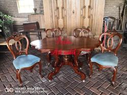 Antik biedermeier étkezőgarnitúra!  Asztal+4szék.