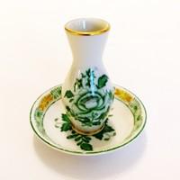 Herendi Apponyi mintás kis dísz váza tálkával. Hibátlan!