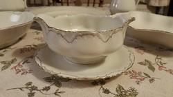 Antik, elegáns, finom TK Thun Bohemia (Czechoslovakia) porcelán tálalószett, fenséges!