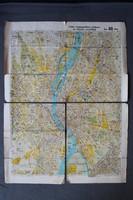 Stoits-féle régi budapesti közlekedési térkép, utcajegyzék
