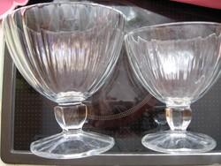 6+6 Crystal D' Arques Luminarc Quadro FRANCE fagyis, koktélos, pezsgős kehely