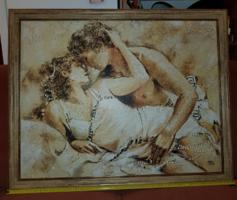 99x80 keretméretű nagy kép, a fészek 70*90 cm