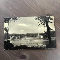Antik képeslap Hévíz gyógyfürdő tórészlet