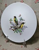 KAISER W.GERMANY  Csont fehér hibátlan állapotú madárkás jelenetes nagy méretű fali tányér.