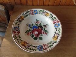 Régi paraszti tányér-Hollóházi