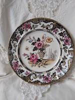 Jelzetlen August Nowotny Altrohlau antik fajansz tányér, 1800-as évek RITKA DARAB