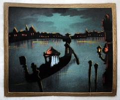 Antik selyem festmény '40 -es évek közepe