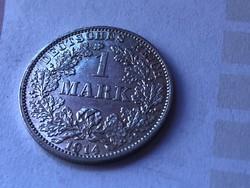 """1914""""A""""ezüst 1 márka 5,5 gramm 0,900 gyönyörű darab"""