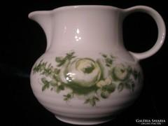 RÓZSÁS  Porcelán hibátlan Tej tejszín olaj kiöntő