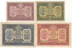1, 2, 10, 20, lira 1918 Olaszország.