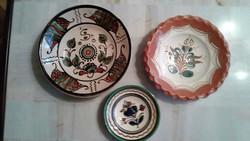 Népművészeti fali tányérok Kántor Karcag kerámia
