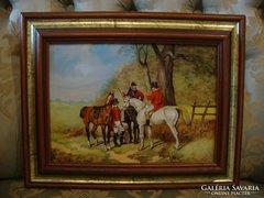 Kocsis Lénárd :  3 lovas férfi festmény (ha jót akar)