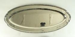 0W021 Régi nagyméretű ezüst tálca halastál 1465g