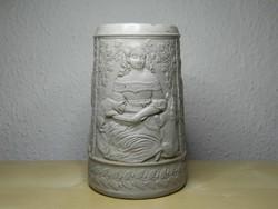 Antik regensburgi kerámia söröskorsó ritka darab szép állapotban 1876 -1888