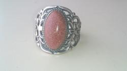 Ezüst régi régi attört mintás napköves ezüst gyűrű 935- ös