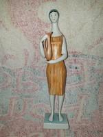 Zsolnay Art Deco nagyon különleges korsós nő Török János terve