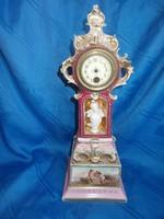 Antik díszes  porcelán kandalló óra asztali óra