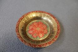 Indiai jelzett réz tányér