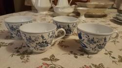 4 db meisseni mintás Ingres Weiss Form Marienbad csésze hibátlan állapotban!