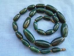 Nefrit Jade nyaklánc a világ egyik legismertebb és legdrágább kövéből  komoly karát 525 ct