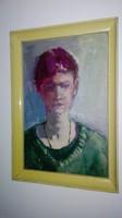 Bernáth Aurél : Női portré   ( Mattioni Eszter? ) - olajfestmény