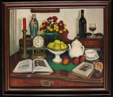 Pátzay Mária: Cézanne-csendélet