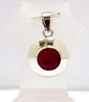 Ezüst medál rubin kővel (ZAL-Ag77532)