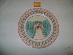 Tájképes kínáló tányér - 29,5 cm - porcelán