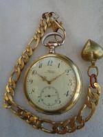 Antique Glashütte Union Horlogere Alpina Gold- silver pocket watch.Ottoman market