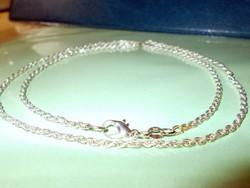 Tömör Erős 60 cm-es Fonott 925 ezüst  nyaklánc