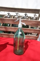Szódásüveg színes zöld