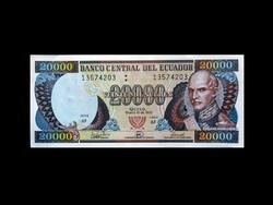 UNC - 20000 SUCRES - ECUADOR - 1999 - Ritka!
