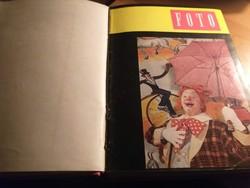 Foto magazin 1960.évfolyam 1-12. száma keménykötésben.2500.-fT