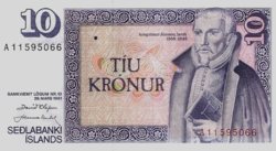 Izland 10 Korona 1981 UNC