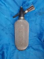 Régi retro hálós üveg szódásszifon