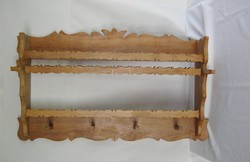 Fa fűszertartó polc