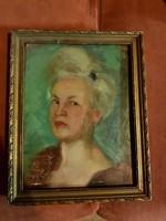 Fáy Győző, 1951, olaj falemezen, kicsi, lötyög a keretben, de azért szép...