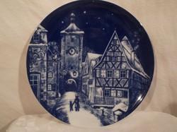 Porcelán - 1977 - Royal Bavaria - karácsonyi tányér - 19 cm -  tökéletes - hibátlan