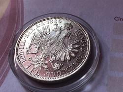 1886 ezüst 1 florin,verdefényes UNC kapszulában,így nagyon ritka!!