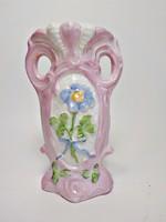 Antik osztrák porcelán ibolya váza