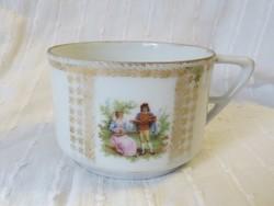 Jelzett antik jelenetes Eichwald Bohemia, Austria teás csésze