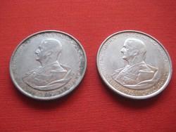 Horthy  2 pengő  1945   2 db  35 mm