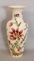 Gyönyörű szép nagy Zsolnay Orchidea mintás kézi festésű váza