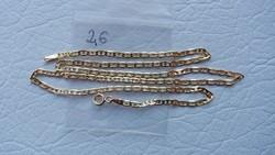 Arany 14K női nyaklánc,teljesen új 45 cm, 2,6gr