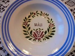 Neves hollóházi tányér