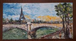 Párizsban-Eiffel torony különleges festmény