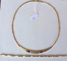 14 K Arany nyaklánc,karlánc, garnitúra,Új