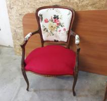 Antik virágos szék, karosszék