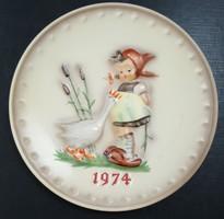 Hummel porcelán falitányér --- 19 cm (1974)